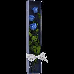Caja Rosas x 3 Azul Princesa