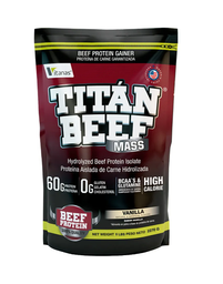 Proteína Titan Beef Mass Sabor Vainilla 5 Lb
