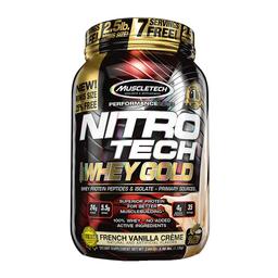 Proteína Muscletech Nitro Tech Whey Gold French Vainilla 2.5 Lb
