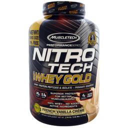 Proteína Muscletech Nitro Tech Whey Gold French Vainilla 5.53 Lb