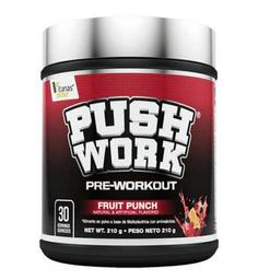 Fórmula de Preentreno Push Work Ponche de Frutas 210 g