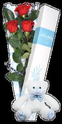Caja 3 Rosas + Oso