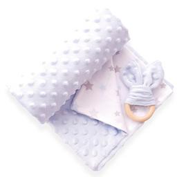 Manta cobija térmica baby wrap azul celeste para bebé