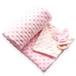 Manta cobija térmica baby wrap rosado / beige para bebé