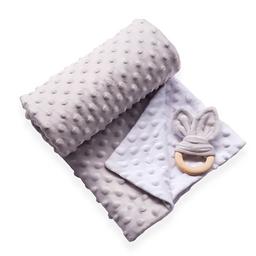 Manta cobija térmica baby wrap gris / blanco para bebé