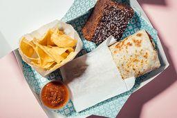 Burrito box: Tinga de pollo con maduritos