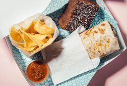 Burrito box: Tinga pollo maduritos