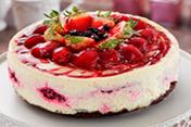 Cheesecake especial de blackberry y brownie 8 porciones