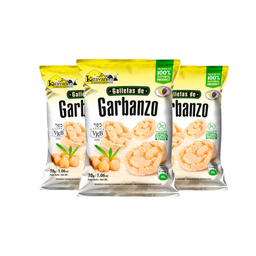 Galletas de Garbanzo Karavansay Sabor Natural Bolsa 90 g x 3