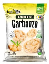 Galletas de Garbanzo Karavansay Sabor Natural Bolsa 360 g x 12