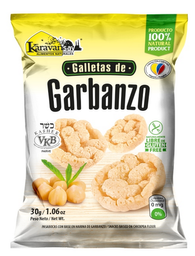 Galletas de Garbanzo Karavansay Sabor Natural Bolsa 360 g x 12