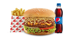 Combo Hamburguesa Presto BBQ Crunch