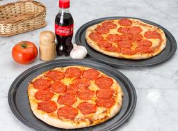 2x1 Pizza Pepperoni + Gaseosa