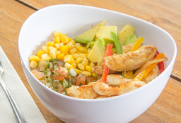 Bowl Fajita pollo + limonada