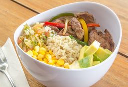Bowl fajita de res + Limonada