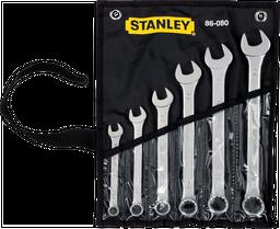 Juego de 6 Llaves Combinadas Métricas Stanley