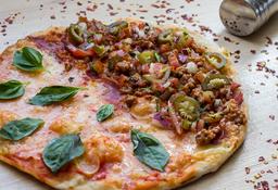 Pizza Mediana Mitad Margarita y Mitad Mexicana