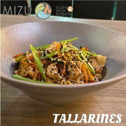 Tallarines Saba Tempura Vegetariano