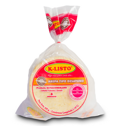Arepas de Maiz KListo Tipo Desayuno 660 g por 6