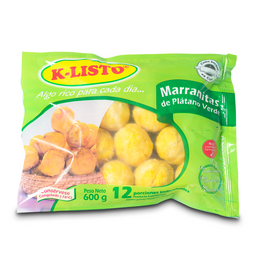 Marranitas KListo de Platano Verde 600 g por 12