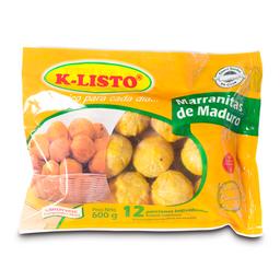Marranitas KListo de Platano Maduro 600 g por 12