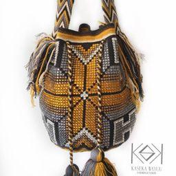 Mochila wayuu grande con cristales