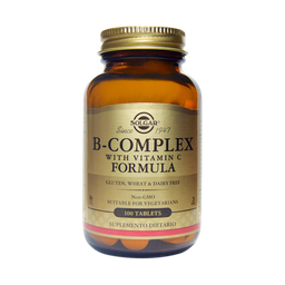 Vitamina B Complex con Vitamina C x 100 Tab - Solgar