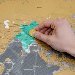 "Mapa ""scratch map x edition"""