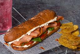 Sándwich Salmón Ahumado