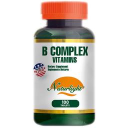 B Complex Vitamins 100 Tabletas