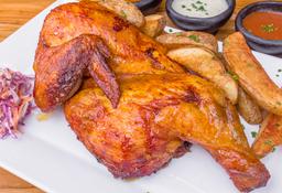 Medio pollo ahumado el cerdero