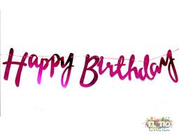 Guirnalda Happy Birthday Cursiva