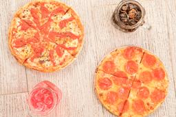 2 Pizzas Medianas 1 Gaseosa