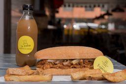 Combo sanduche Costillitas de Cerdo + Papas + Bebida