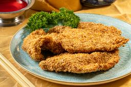 Pollo Apanado con Ajonjolí