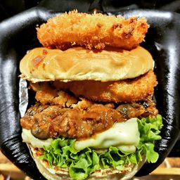 Hamburguesa Mushroom & Cheese Burger