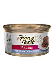 Fancy Feast Mousse Pescado y Camaron 85 Gr