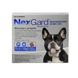 Nexgard 4 Kg A 10 Kg (1 Comprimido)