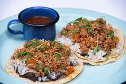 Tacos de Guisado Picadillo de Res