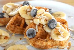 Blueberry Vegan Waffles