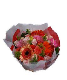 Bouquet en Rosas y Gerberas