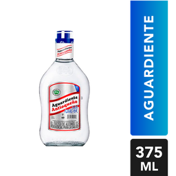 Aguardiente Sin Azucar Azul - Antioqueño - Botella 375 Ml