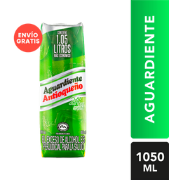 Aguardiente Antioqueño Verde 24 Sin Azucar Tetra Extra 1050 Ml