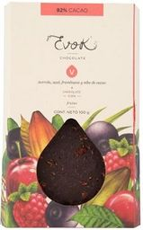 Barra 82% Cacao con Nibs de Cacao, Acerola, Acaí y Frambuesa