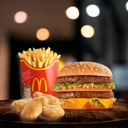 Big Mac + Nuggets x 4 + Papas Grandes