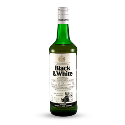 Whisky Black And White Botella 750 mL