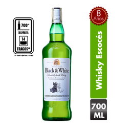 Whisky Black and white  Botella 700 mL