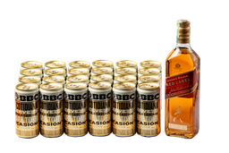 Whisky Red Label 700 ml + 24 U Bbc Cotidiana de 269 ml