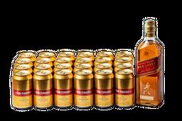 Whisky Red Label 700 mL + 24U Cerveza Club Colombia Dorada 330mL