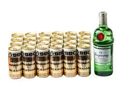 Ginebra Tanqueray 750 ml + 24 U Cerveza Bbc Cotidianade 269 ml